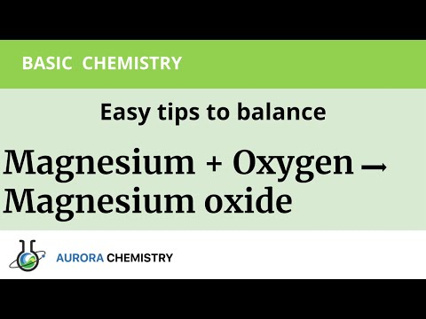 Balance Magnesium + Oxygen = Magnesium Oxide