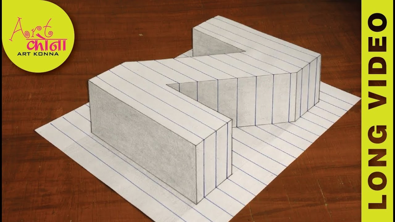 How to Draw the Letter Z in 3D - Draw the Letter Z in 3D - 3D Drawing