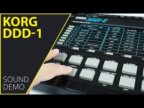 Korg DDD-1 Sound Demo (no talking)