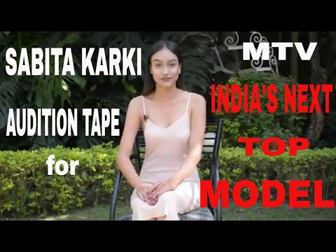 SABITA KARKI (NEPAL) AUDITION CLIP FOR MTV INDIA'S NEXT TOP MODEL 3