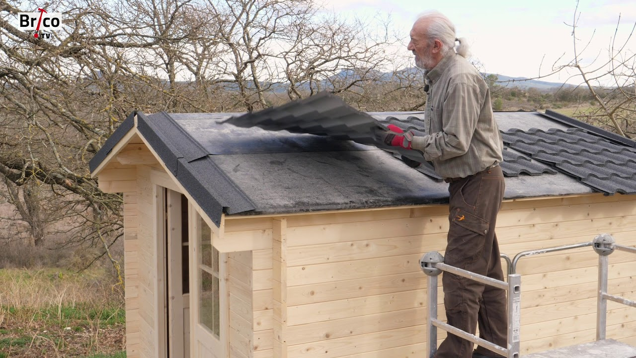 realiser une toiture d abri de jardin tuto brico avec robert