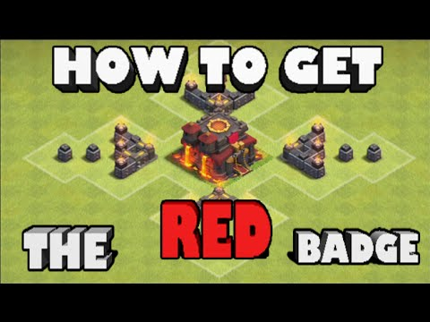 Clash Of Clans- How To Get The RED Badge Above YOUR Town Hall! *SUPPORT THE CAUSE*