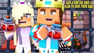 BABY KAYLA'S SECRET PLAN to SAVE HER DAD LITTLE DONNY... Minecraft
