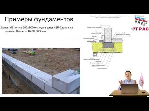 видео: На каких фундаментах можно строить дом из газобетона