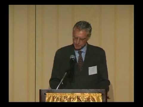 Part 5, Thomas Bender at the 2009 Phi Beta Kappa Triennial Council