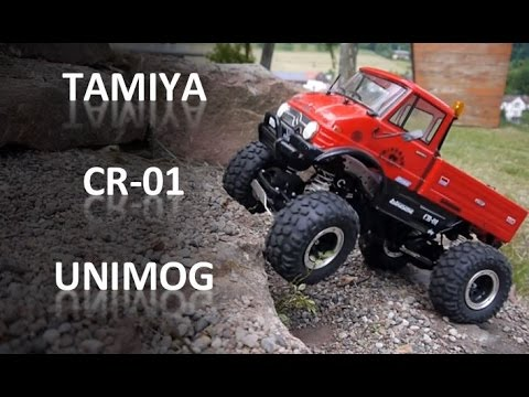 This is how the Tamiya CR-01 Unimog R/C Rock Crawler Truck crawls