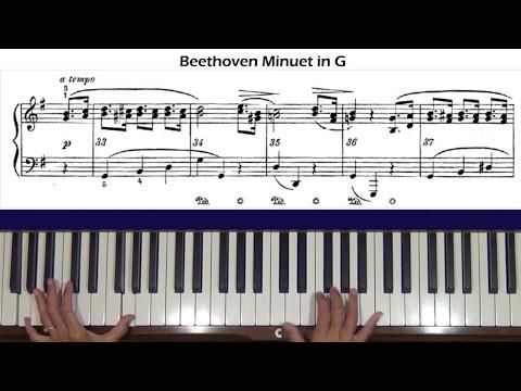 Beethoven WoO No.2 Minuet in G Piano Tutorial