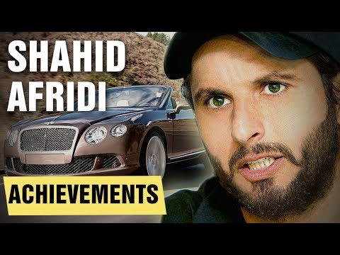 Greatest Shahid Afridi Achievements - Net Worth, Cars