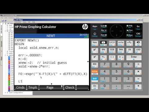 HP Prime - Programming & Newton's Method (Part 1)