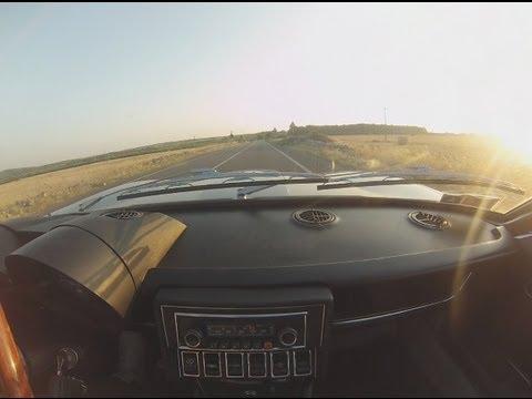 (HD) Alfa Romeo Montreal Fast road driving