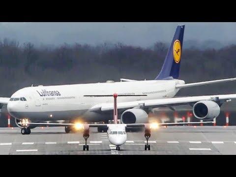 Airbus A340-600 vs. Dash-8 - Good bye AIR BERLIN