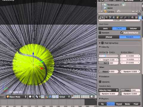 Design of a tennis ball in Blender