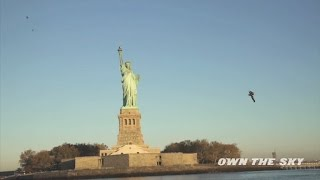 Aviator Makes History Flying By Jetpack Around Statue of Liberty
