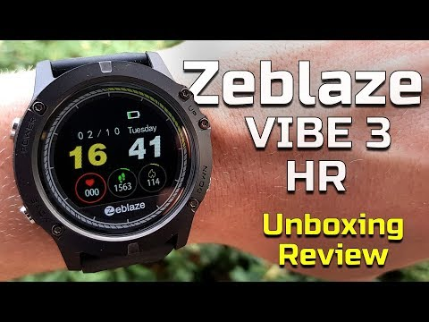 Zeblaze Vibe 3 Hr Unboxing And Review Youtube