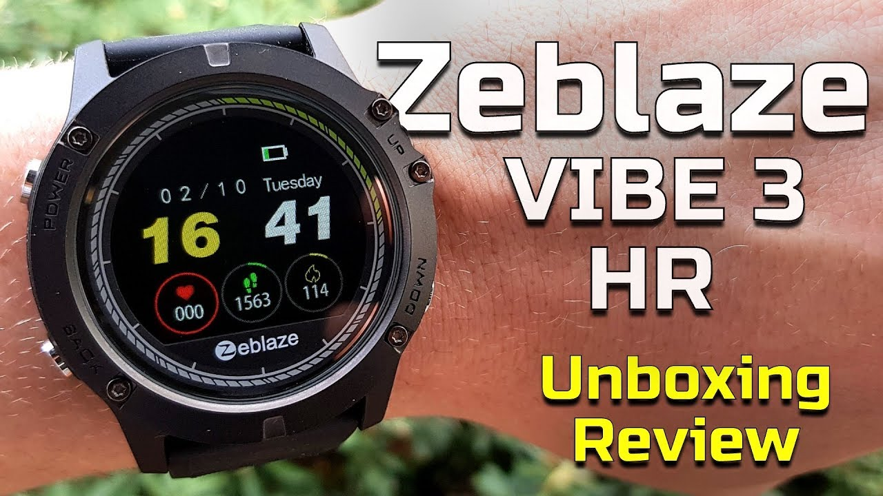 Zeblaze Vibe 3 Hr Unboxing And Review