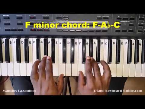 How to Play the F Minor Chord on Piano and Keyboard - Fm, Fmin