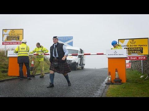 Pranksters set up fake Scottish border passport controls