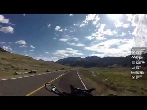BMW K1600GTL - Yellowstone to Beartooth Pass (Grand Loop Rd. to NE Entrance Rd.)
