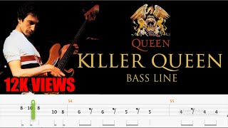 Queen - Killer Queen (Bass Line Tabs) By John Deacon