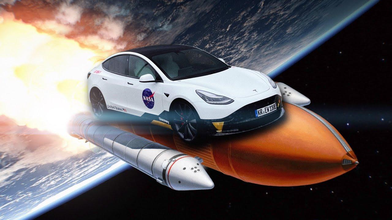 Mein Tesla Model 3 ist jetzt ein Spaceshuttle!🚀 (neue Folierung)