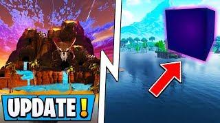 *NEW* Fortnite Update!   Cube Leaves Lake, Rune 8, Season 6!