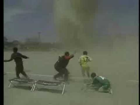 Tornado (Giant Dust Devil) Forming In The Middle Of Soccer Field ...