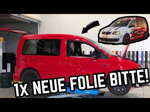 Neues Design Für Den Caddy Minicamper! Folie Runter, Folie Plotten Und Neu Folieren! Umbau Part 2