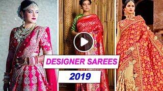 Designer Wedding Sarees Collection 2019 | Stylish Saree Designs | New Party Wear | TBG Bridal Store