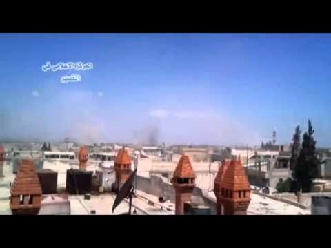 20130521   Homs   Al Qusayr City   Filming artllery shelling from a rooftop 06m14s]