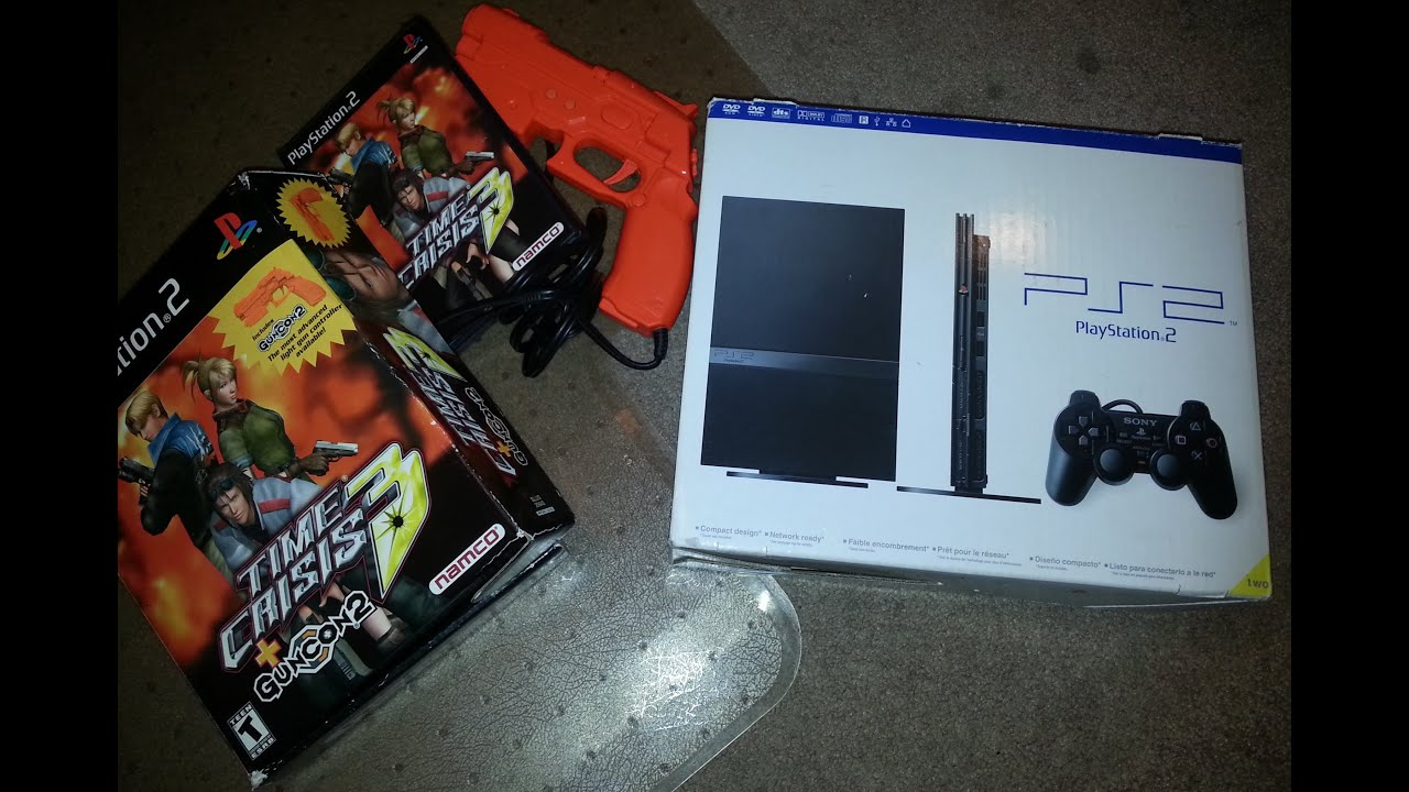 Playstation 2 Slim Unboxing, and Time Crisis 3! - Indead ...