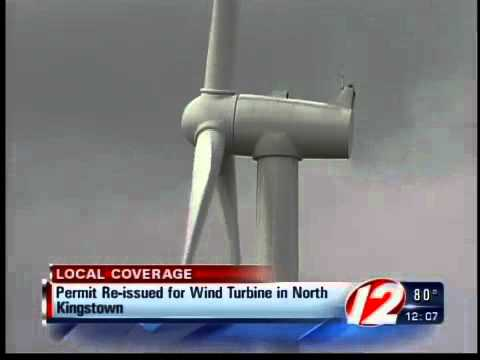 North Kingstown reissues building permit for a wind turbine