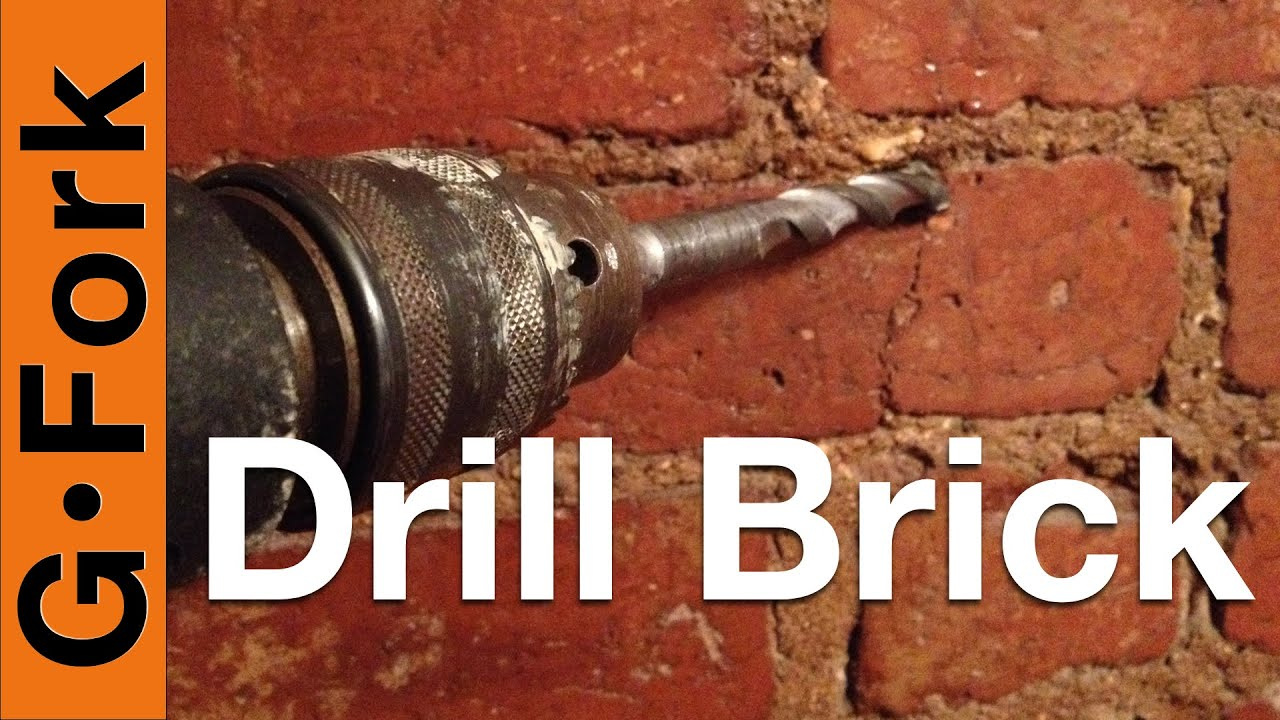 Drill Into Brick Or The Mortar Gardenfork Youtube