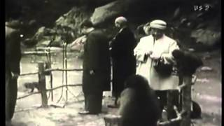 昭和33年、大分・高崎山でのご様子と東京オリンピック開会宣言。