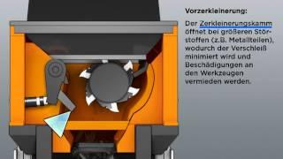 Doppstadt Kombiniert Zerkleinerer DZ 750 Animation Deutsch
