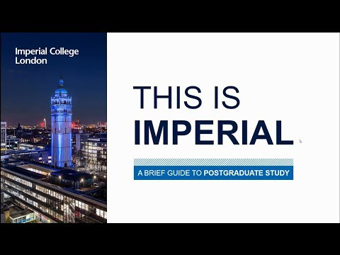 This is Imperial: postgraduate study webinar