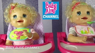 BABY ALIVE Learns to Potty Twins Compilation: Adoption + Showering with Gifts + Feeding + Changing