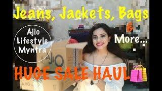 AJIO HUGE SALE + LIFESTYLE + MYNTRA HAUL|TheLifeSheLoved| Sana K