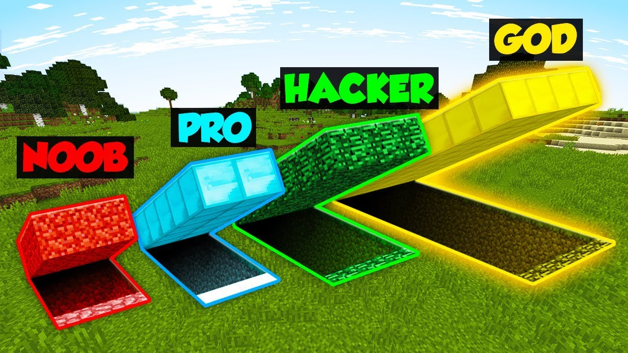 Minecraft Noob Vs Pro Vs Hacker Vs God Secret Hideout