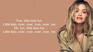 Rita Ora - Anywhere (Lyrics)