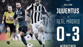 JUVENTUS VS REAL MADRID THE CHAMPIONS LEAGUE RESULTS Of Last 5 Matchs