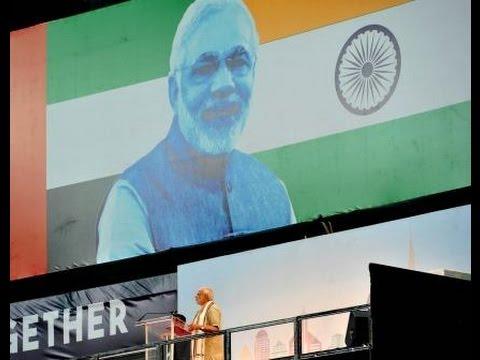 PM Modi Addresses The Indian Community At Dubai Cricket Stadium