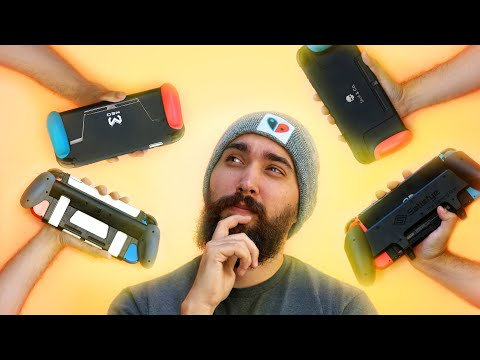 Nintendo Switch grips so you don't drop it!