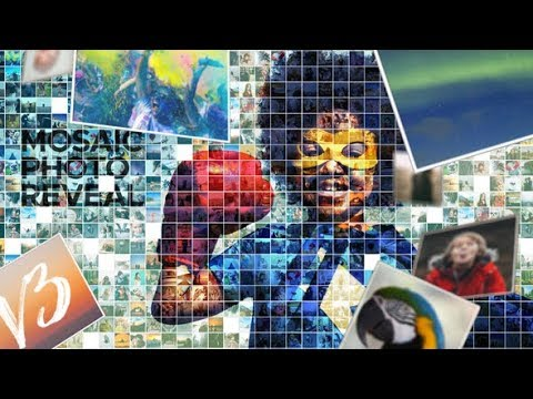 Adobe After Effects Project Files Download | Mosaic Photo Reveal - Videohive