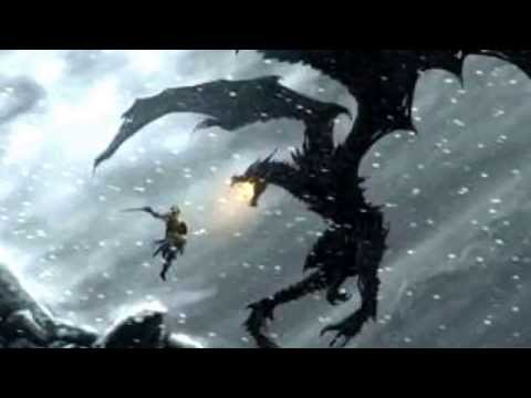 Skyrim Dragon Fight Theme 1h