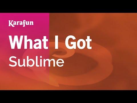 Karaoke What I Got - Sublime *