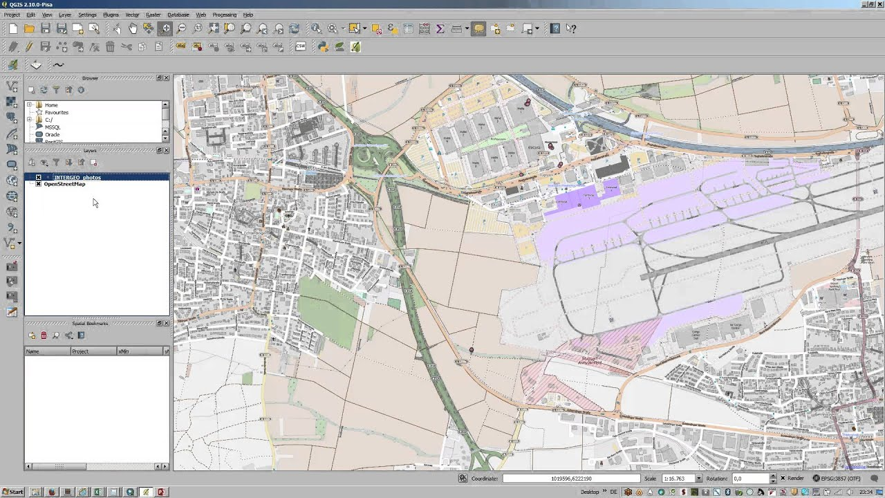 import geotagged photos in QGIS - YouTube
