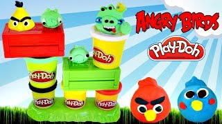 Play Doh Launching Angry Birds Build N
