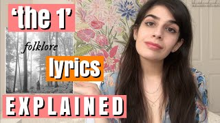 'the 1' LYRICS EXPLAINED-LITERARY ANALYSIS | TAYLOR SWIFT folklore In-Depth Song Analysis Reaction ✨