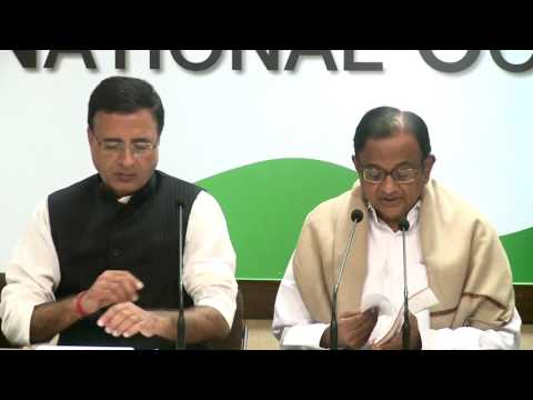 AICC Press Briefing by P. Chidambaram at Congress HQ, February 2, 2017