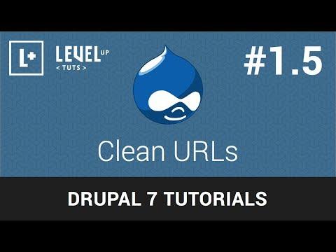 Drupal Tutorials #1.5 - Clean URLs